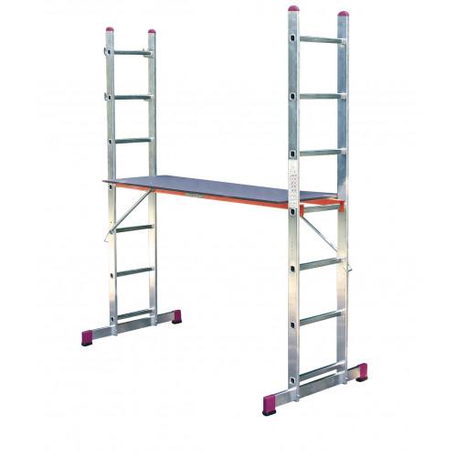 Строительный лестничный помост KRAUSE Corda 2x7 ст.