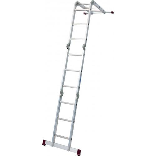 Шарнирная 4-секционная лестница KRAUSE Corda 4х3 ступени