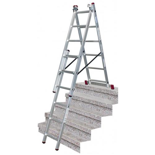 Универсальная 3-секционная лестница KRAUSE Corda 3x6 ст. TR