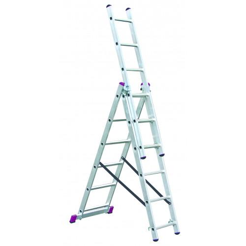 Универсальная 3-секционная лестница KRAUSE Corda 3х6 ст.