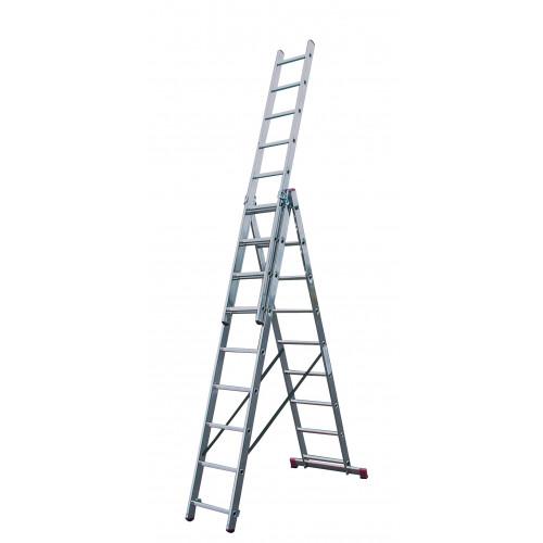 Универсальная 3-секционная лестница KRAUSE Corda 3х9 ст.