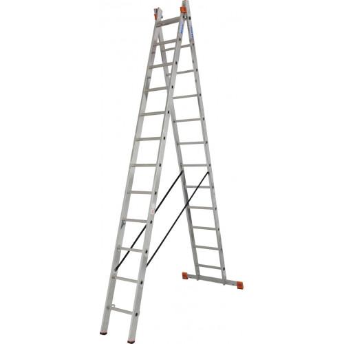Универсальная 2-секционная лестница KRAUSE Dubilo 2x12 ст.