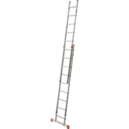 Приставна 2-секційна драбина KRAUSE Fabilo 2x9 сх.