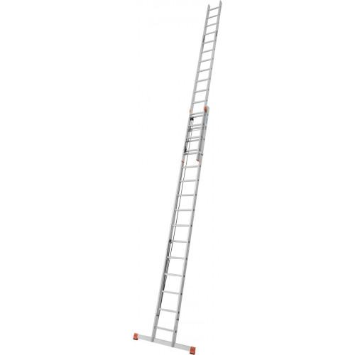 Приставная 2-секционная лестница, выдвигаемая тросом KRAUSE Robilo 2x15 ст.