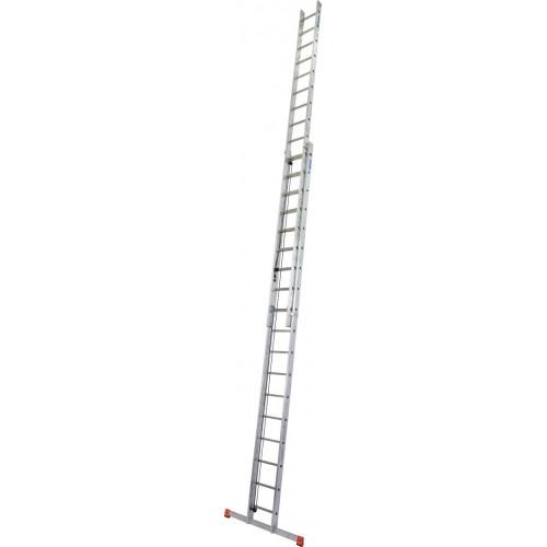 Приставная 2-секционная лестница, выдвигаемая тросом KRAUSE Robilo 2x18 ст.