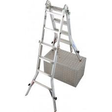 Шарнирная телескопическая лестница с удлинителями боковин KRAUSE TeleVario 4x4 ст.