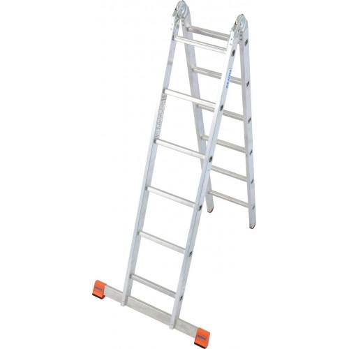 Шарнирная 2-секционная лестница KRAUSE TriMatic 2x6 ст.
