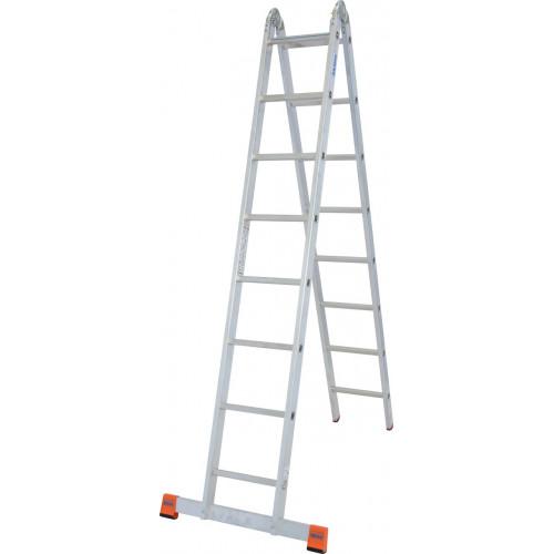Шарнирная 2-секционная лестница KRAUSE TriMatic 2x8 ст.