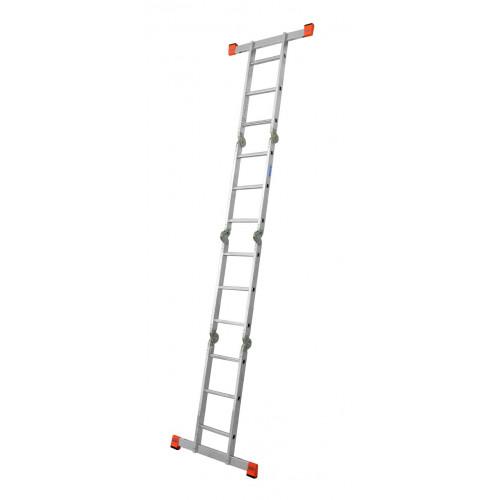 Шарнирная 4-секционная лестница KRAUSE MultiMatic 4х3 ступени
