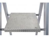 Алюминиевая безопасная платформа с противоскользящим рифлением