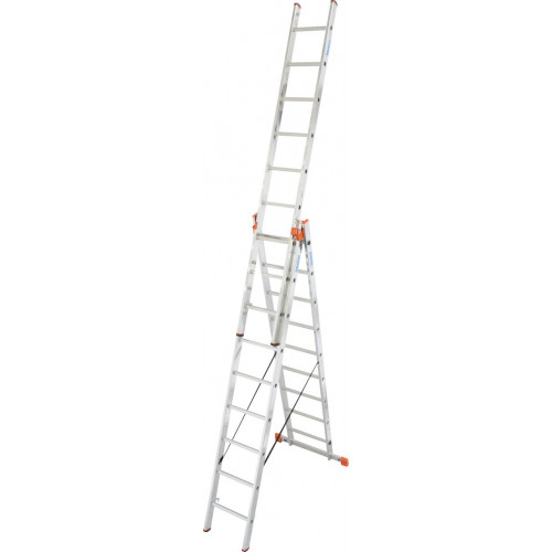 Универсальная 3-секционная лестница KRAUSE Tribilo 3х9 ст.