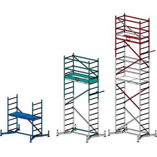 Алюмінієва вишка-тура KRAUSE ClimTec (базова конструкція+перша надбудова) 5 метрів