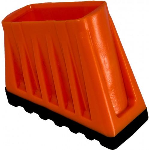Наконечник опоры стремянки (пара) 40x20 мм, 2-компонентный, прорезиненный KRAUSE Monto