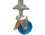 Снабженные тормозом, регулируемые по высоте роликовые опоры позволяют компенсировать неровности установочное поверхности