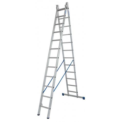 Универсальная 2-секционная лестница KRAUSE Stabilo 2x12 ст.