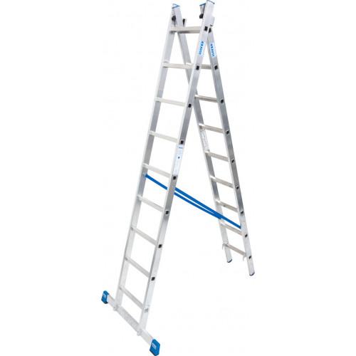 Универсальная 2-секционная лестница KRAUSE Stabilo 2x9 ст.