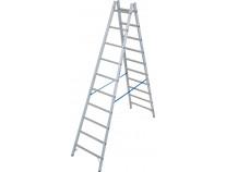 Двухсторонняя стремянка с перекладинами KRAUSE Stabilo 2x10 ступеней
