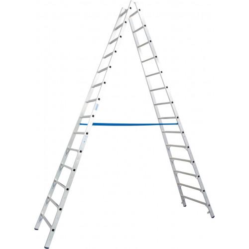 Двостороння стремянка з перекладинами KRAUSE Stabilo 2x14 сходинок