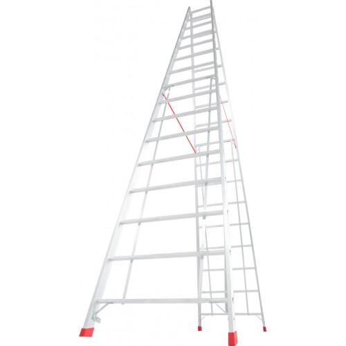Двухсторонняя стремянка с перекладинами KRAUSE Stabilo 2x16 ступеней