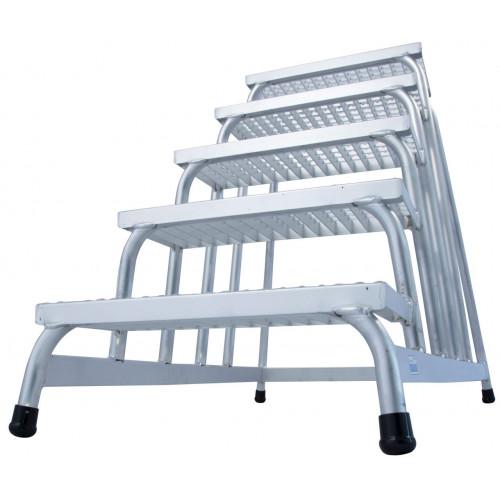 Монтажна підставка з решітчатими сходами KRAUSE Stabilo 5 сходинок