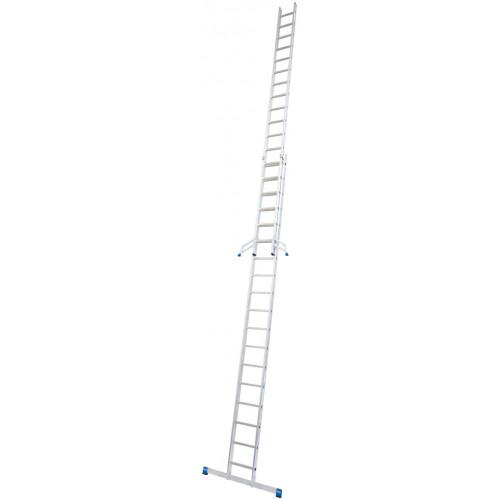Приставна 2-секційна драбина KRAUSE Stabilo 2x18 сх.