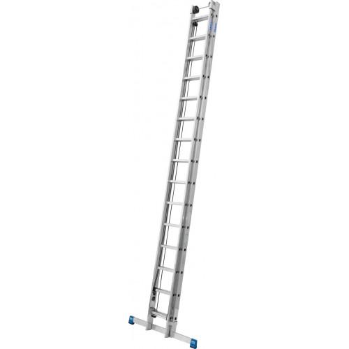 Приставная 2-секционная лестница, выдвигаемая тросом KRAUSE Stabilo 2x15 ст.