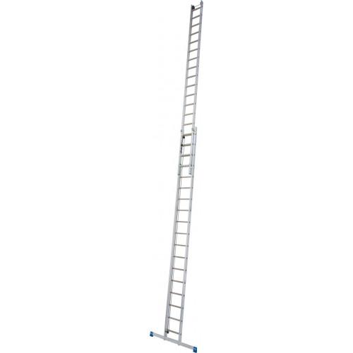 Приставна 2-секційна драбина, видвигаєма тросом KRAUSE Stabilo 2x18 сх.