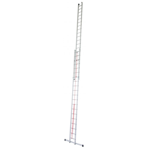 Приставная 2-секционная лестница, выдвигаемая тросом KRAUSE Stabilo 2x20 ст.