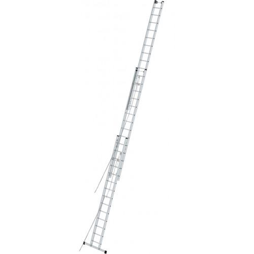 Приставная 3-секционная лестница, выдвигаемая тросом KRAUSE Stabilo 3x14 ст.