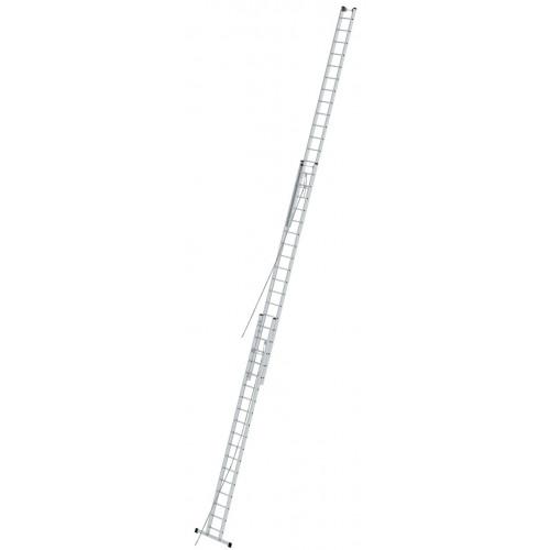 Приставная 3-секционная лестница, выдвигаемая тросом KRAUSE Stabilo 3x18 ст.