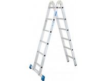 Шарнирная 2-секционная лестница KRAUSE Stabilo 2x6 ст.