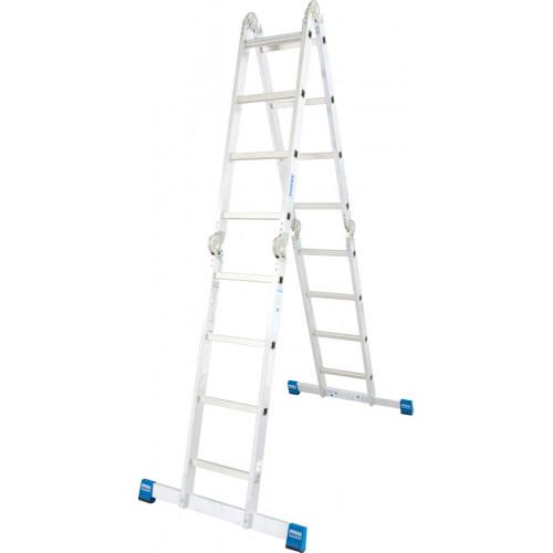 Шарнирная 4-секционная лестница KRAUSE Stabilo 4х4 ступени