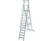 Передвижная стремянка с большой платформой и дугой безопасности KRAUSE Stabilo 12 ступеней