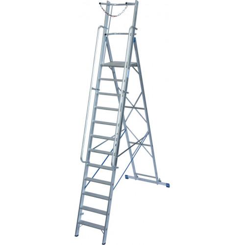 Передвижна стремянка з великою платформою та дугою безпеки KRAUSE Stabilo 12 сходинок