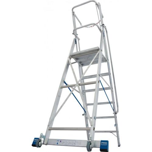 Передвижна стремянка з великою платформою та дугою безпеки KRAUSE Stabilo 6 сходинок