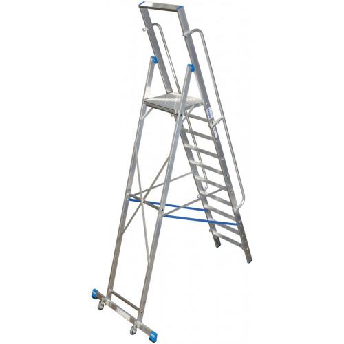 Передвижна стремянка з великою платформою KRAUSE Stabilo 10 сходинок