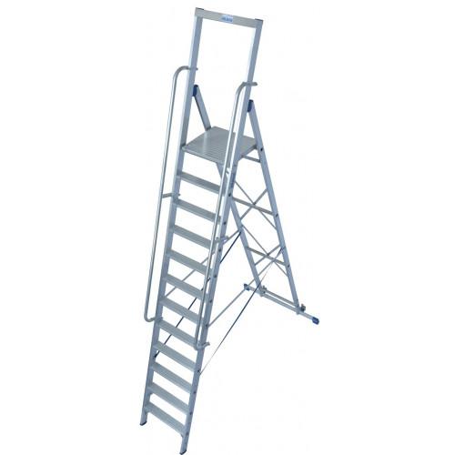 Передвижна стремянка з великою платформою KRAUSE Stabilo 12 сходинок