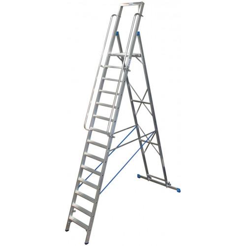 Передвижна стремянка з великою платформою KRAUSE Stabilo 14 сходинок