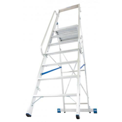 Передвижна стремянка з великою платформою KRAUSE Stabilo 7 сходинок