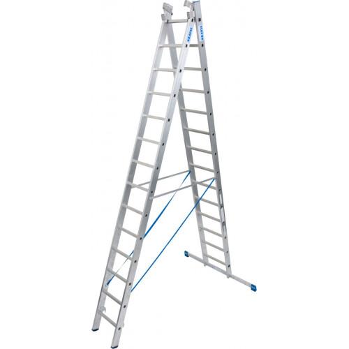 Универсальная 3-секционная лестница KRAUSE Stabilo 3х14 ст.