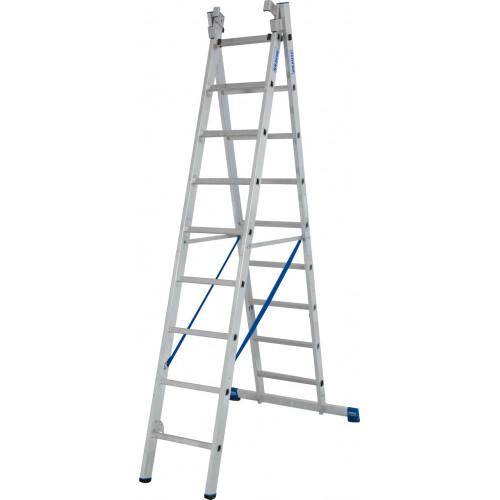 Универсальная 3-секционная лестница KRAUSE Stabilo 3х9 ст.