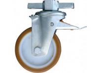 Ролик обрезиненный, диаметр 150 мм. Оснащен тормозом